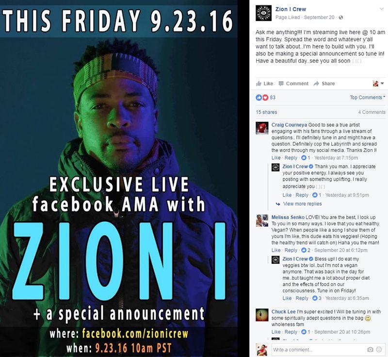 Zion I Facebook Live