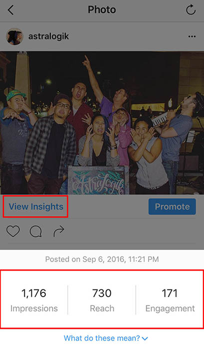 IG Post Insights