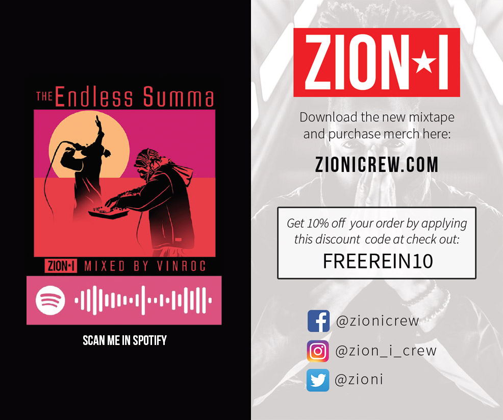 Zion I Spotify Code Card Example
