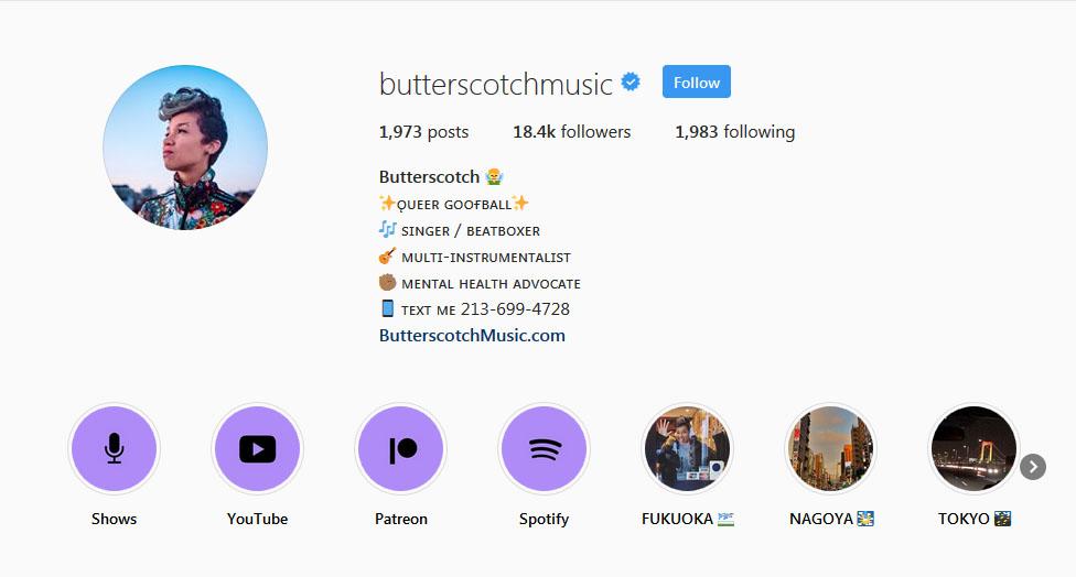 Butterscotch Instagram