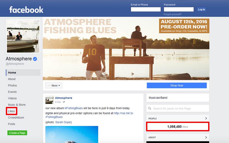 Atmosphere Facebook Page